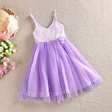 NEW Flower Girl Wedding Bridesmaid Party Pageant Dress Lilac Kid Size 5-9 Z222