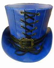 Steampunk Electric Blue Tophat
