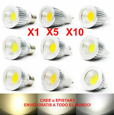 1x 5x 10x Lamparas Led Cob regulable - 6w/9w/12w/15w Brillante - mr16/gu10/e27*