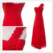 FINAL CLEARANCE!! LONG Chiffon Bridesmaid Formal Gown Evening Prom Party Dresses