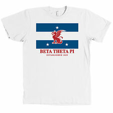 Beta Theta Pi Fraternity Flag American Apparel T Shirt NEW MADE IN THE USA