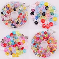 Acrylic Loose Beads 80pcs/100pcs Assorted Color Faceted Rondelle Spacer 8/6mm