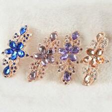 Fashion Crystal Rhinestone Flower Hairpin Barrette Women's Hair Clip Headwear