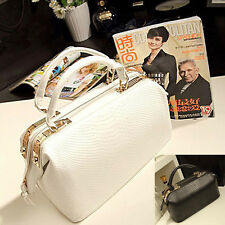 New Womens Croco Leather Evening Tote Handbag Shoulder Crossbody Doctor Bag W8