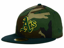 Official MLB Oakland A's Athletics Camo Team Pop New Era 59FIFTY Hat Fitted