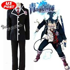 Japanese Anime Ao no Exorcist Rin Okumura School uniforms Cosplay Costume