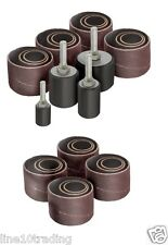 20 Sanding Drum & Sleeves Set Kit OR 12pc Refill set - Fits All Drills & Presses