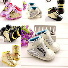 NEW Fashion Baby Boy Girl Newborn Boot Sandals Toddler Infant Soft Sole Shoe #BK