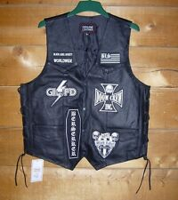 BLACK LABEL SOCIETY BLS Leather Vest with official patches as worn by Zakk Wylde