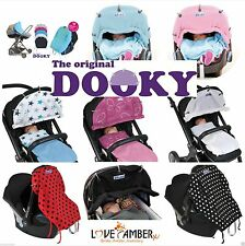 Dooky Roll Up Sun Shades Pram Shade Carseat Cover Protect  Wind Rain Sun 40F