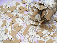 Heart Novel Kraft Confetti  Mix - Wedding Table Decoration - Rustic Hearts