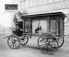 Photo reprint Horse Drawn Hearse made in Salem, MA