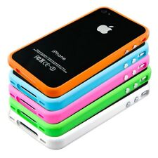 kwmobile TPU SILICONE BUMPER FOR APPLE IPHONE 4 / 4S ALU BUTTON SOFT CASE COVER