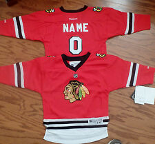 Chicago Blackhawks Kids size 4/7 Reebok NHL Hockey Jersey add any name & number