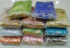 WHOLESALE  MIXED COLOR WEDDING SILK JEWELRY ORGANZA POUCH GIFT 100mmx120mm