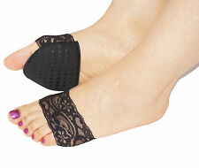 Ladies foot pads fashion lace insole cushions forefoot support high heel shoes