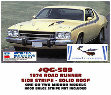 QG-589 1974 PLYMOUTH ROAD RUNNER - SIDE & ROOF SOLID STRIPE
