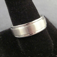 Men TITANIUM RING Brushed with Side Step 8mm Wedding Band Size 8, 9, 10, 11, 12