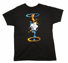 Portal 2 Gel Splatter Men's Black T Tee Shirt Licensed Jinx Video Game Licensed