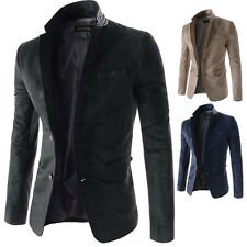Hot Sell Mens Stylish Fitted Suit Jacket Long Sleeve Slim Fit Casual Blazer Coat