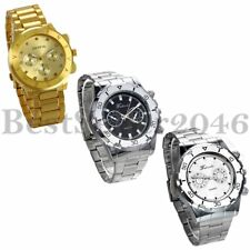 Luxury Men's Watch Stainless Steel Band Quartz Analog Sport Wrist Watch Gift