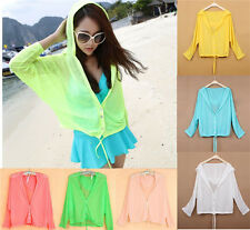 Women's Thin Beach Sun Summer UV Protection Tops Clothing Air-conditioned Shirt