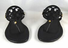 Tory Burch Miller Black Veg Leather Thong Sandal