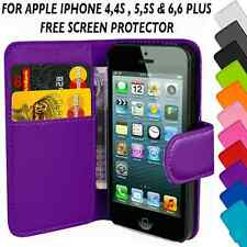 PU Leather Wallet Magnetic Flip Phone Case Cover For Apple iPhone 4,4s,5,5s,6,6+