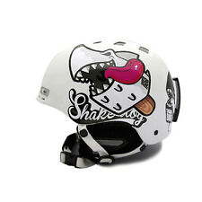 Motorcycle Helmet Decal Sticker Snowboarding Biker Hard Hat Sticker-Shark DOG 04