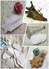 50PCS Blank Kraft Paper Hang Gift Tags Wedding Party Label Price Greeting Cards