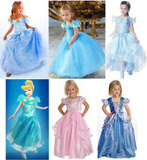 New Movie Sandy Princess Cinderella Cosplay Costume Kids Girls Party Fancy Dress