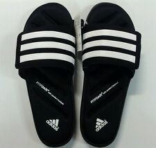 Adidas Zeitfrei Slide Sandals Black/White Soft FitFoam Footbed Size 8,9,10,11,12