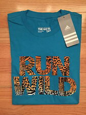 NWT Adidas ANIMAL LETTERING S M Regular Fit Women's Tee Shirt D22491