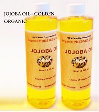 Pure Jojoba Oil-Golden Cold PRESSED ORGANIC .5oz to 37lbs
