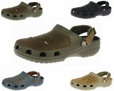 ORIGINAL MENS CROCS YUKON BLACK KHAKI CHOCOLATE CLOGS SHOES UK 6 - 13 RRP £40