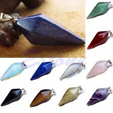 New Gemstone Crystal Pendulum Healing Dowsing Chakra Reiki Pendant For Necklace