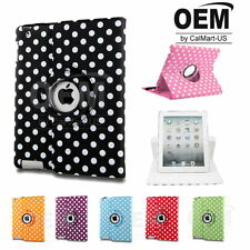 Brand New Polka Dot 360 Rotating Leather Cover Case Fit iPad Mini Retina