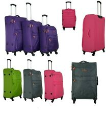 Lightweight 4 Wheel Spinner Suit Case Easyjet Case Luggage Cabin Ryanair Airline