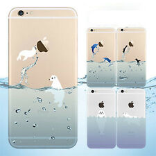 0.3mm ULTRA Thin Cute animals TPU Soft Cover Skin Case For iPhone 5s 6 6 Plus