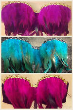 Feather Bikini Set Ibiza Marbella Zoo Project Swimwear TOWIE Monokini Bra