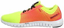 New Girls Ladies Womens Reebok Z-Run Running Trainers Shoes - Neon Yellow Pink