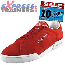 Reebok Classic Mens NPC Vintage Suede Leather Trainers Red UK 9.5 *AUTHENTIC*