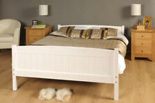 King Size Bed in White 5ft King Size Bed Wooden Frame WHITE