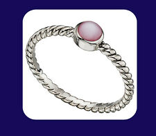 Mother of pearl Ring Pink Mother of pearl Sterling Silver Ring
