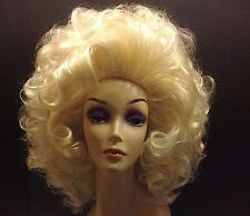 HUGE Marilyn Monroe Wig 1950s Bubble color 613 Synthetic Drag Queen Show Girl