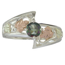 Black Hills Gold womens ring Mystic Fire Topaz on silver whl/half size 4 - 10