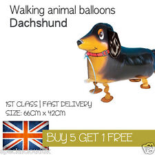 dachshund sausage DOG WALKING PET BALLOON ANIMAL AIRWALKER BIRTHDAY KIDS FARM