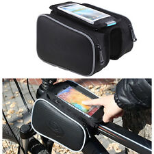 Cycling Bike Bicycle Front Top Tube Frame Pannier Double Bag Mobile Phone Pouch
