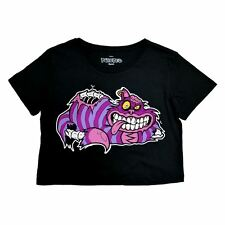 Twisted Vêtements Zombie Chesire cat crop top t shirt Disney punk emo tatouage goth