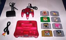 N64 Watermelon System Console lot and 8 Nintendo 64  Games and Expansion Pak